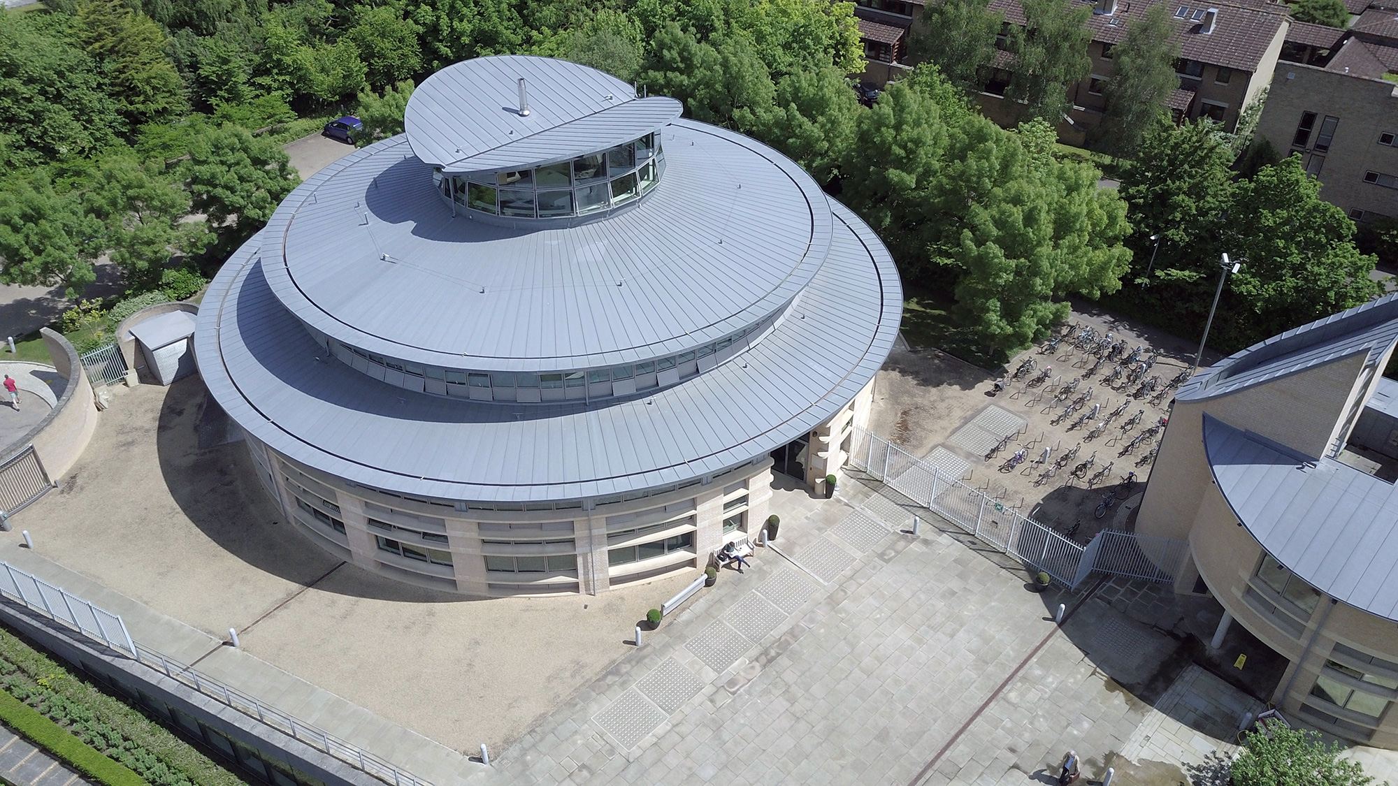 [IMAGE = Library Drone Shot]